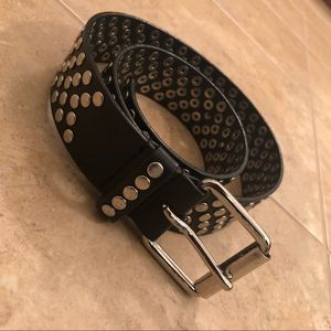 Black Studded GUESS Belt